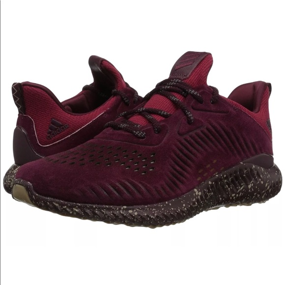 huge discount dc3ba e80d2 NWT Adidas AlphaBounce LEA Maroon Sneakers, 14 Men